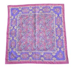 Vintage Polyster Bargundy And Purple Color Scarf